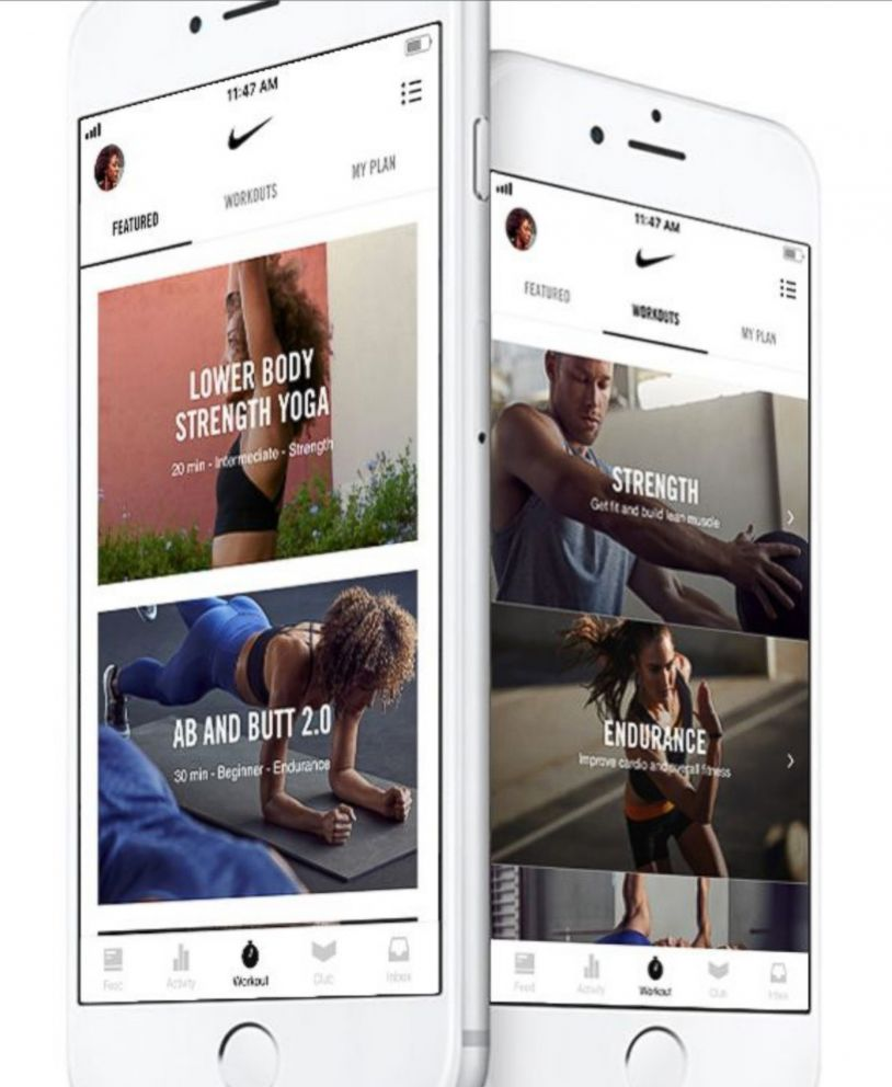 PHOTO: Nike Training Club features audio and video clips featuring Nike Trainers