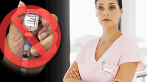 Photo: Some Nurses Say No to Mandatory Flu Shots: Large nursing groups are against new mandatory flu shots for hospital workers.