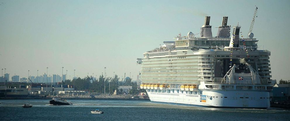 PHOTO: Royal Caribbeans Oasis of the Seas cruise ship is docked at Port Everglades in Fort Lauderdale, Fla., in 2009.