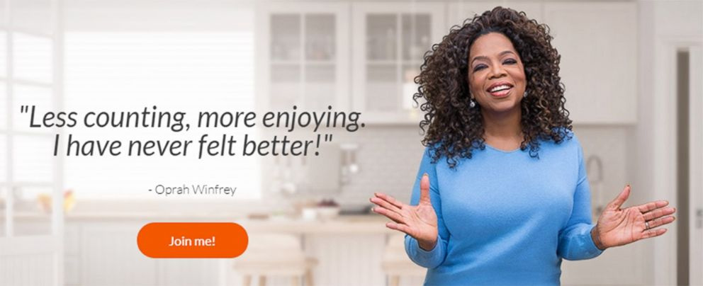 PHOTO: Oprah Winfrey appears on the Weight Watchers website promoting their company.