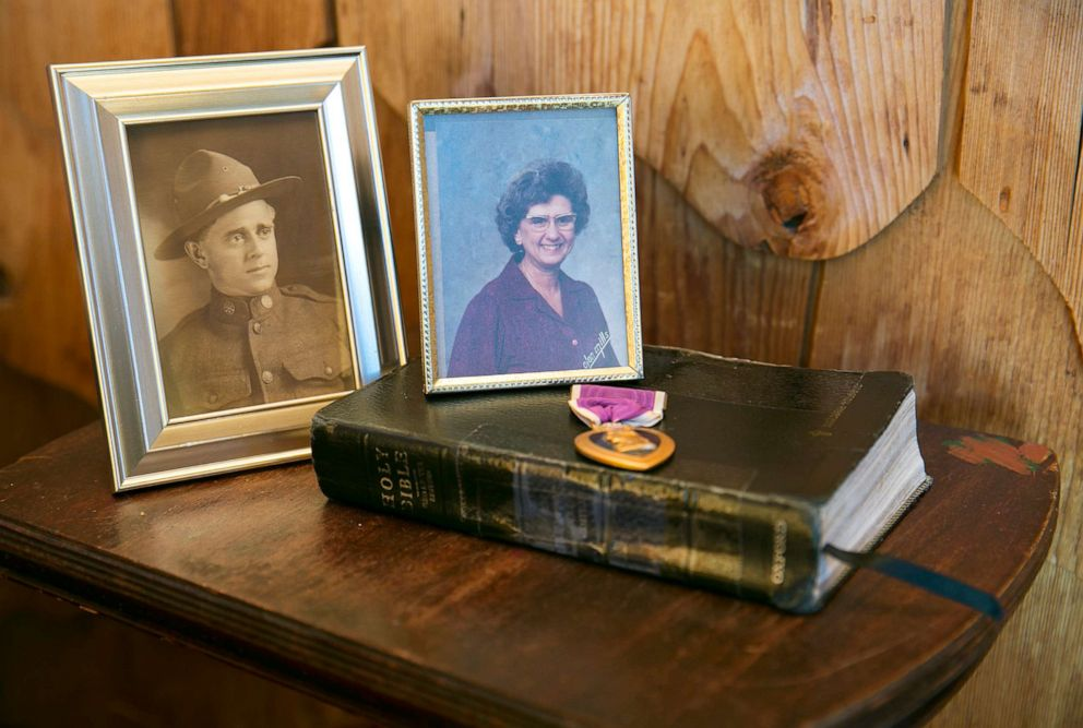 PHOTO: In the commotion of evacuating from Paradise, Carol Holcomb lost a backpack containing her mothers Bible, her grandfathers Purple Heart medal from World War I and photographs of both of them.