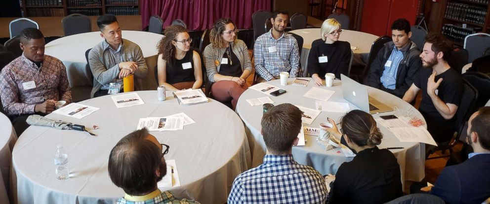 PHOTO: Michael Danziger, a student at SUNY Downstate College of Medicine, leads a discussion on single-payer health care at the Advocacy in Medicine Conference.