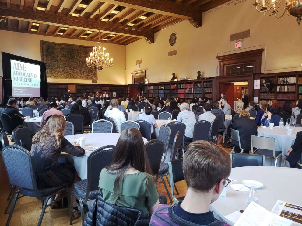 PHOTO: About 150 medical students from eight schools gather at the New York Academy of Medicine to discuss how to advocate for their patients as they enter the medical field.