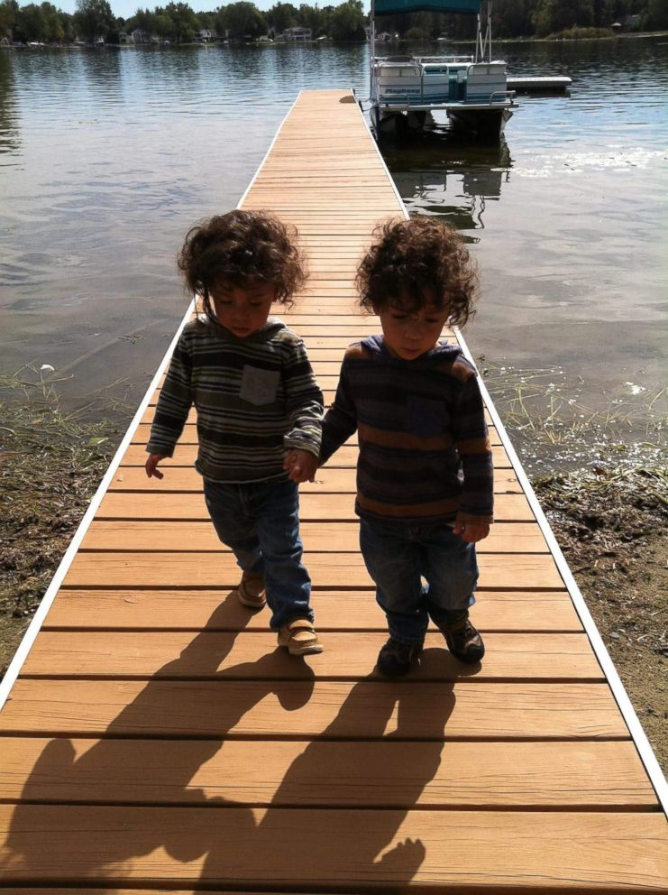 PHOTO: Her sons, now 5, have made her a calmer and more intuitive parent.