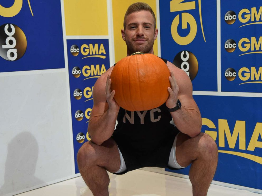 PHOTO: Barrys Bootcamp trainer Josey Greenwell demonstrates the squash squat.