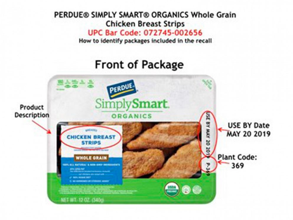 PHOTO: Perdue Foods announced a voluntary recall of some of their refrigerated and frozen chicken products under the Perdue and Chef Quik brands on May 31, 2019.