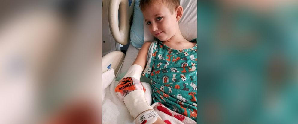 PHOTO: Quinton Hill, 7, has acute flaccid myelitis or AFM, a rare and serious condition that affects the spinal cord, resulting in muscle and nerve weakness.