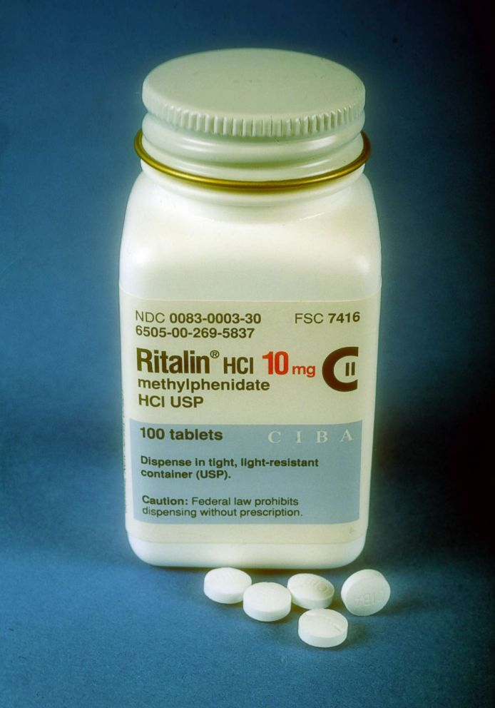 PHOTO: A bottle of Ritalin.