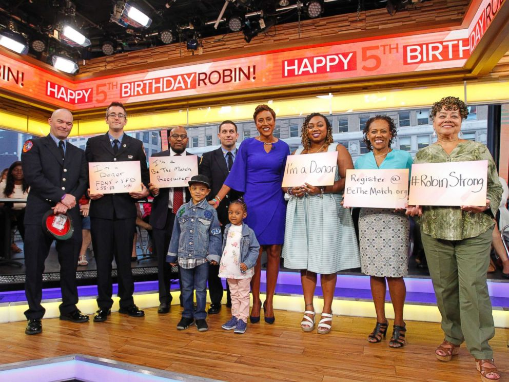 PHOTO: Good Morning America co-anchor Robin Roberts is celebrating her fifth birthday, the anniversary of the day she received a life-saving bone marrow transplant.