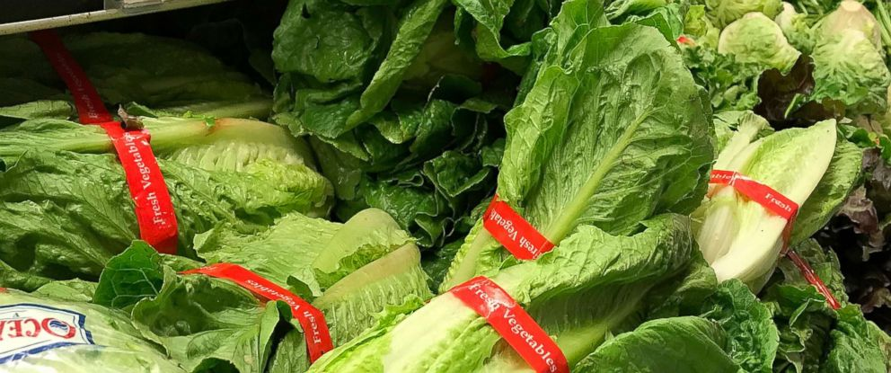 PHOTO: Romaine lettuce is displayed at a grocery store on May 2, 2018 in San Anselmo, Calif.
