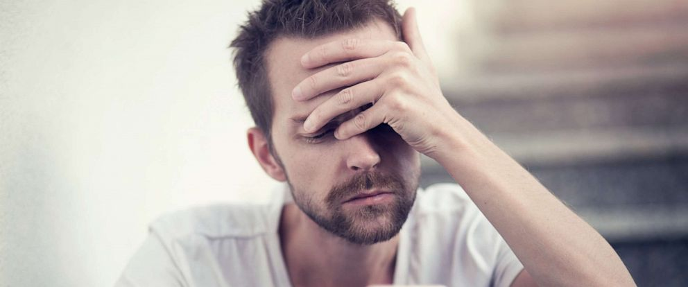 PHOTO: A sad man is pictured in this undated stock photo.