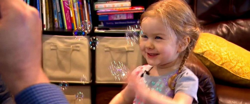 PHOTO: Sadie Rutenberg, 3, of Seattle, was the first child to receive an Abbott miniature, mechanical heart valve during a medical trial. She had the surgery in 2015.