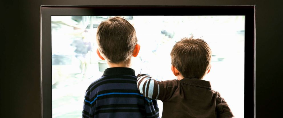 PHOTO: Two children watch TV in this stock photo.
