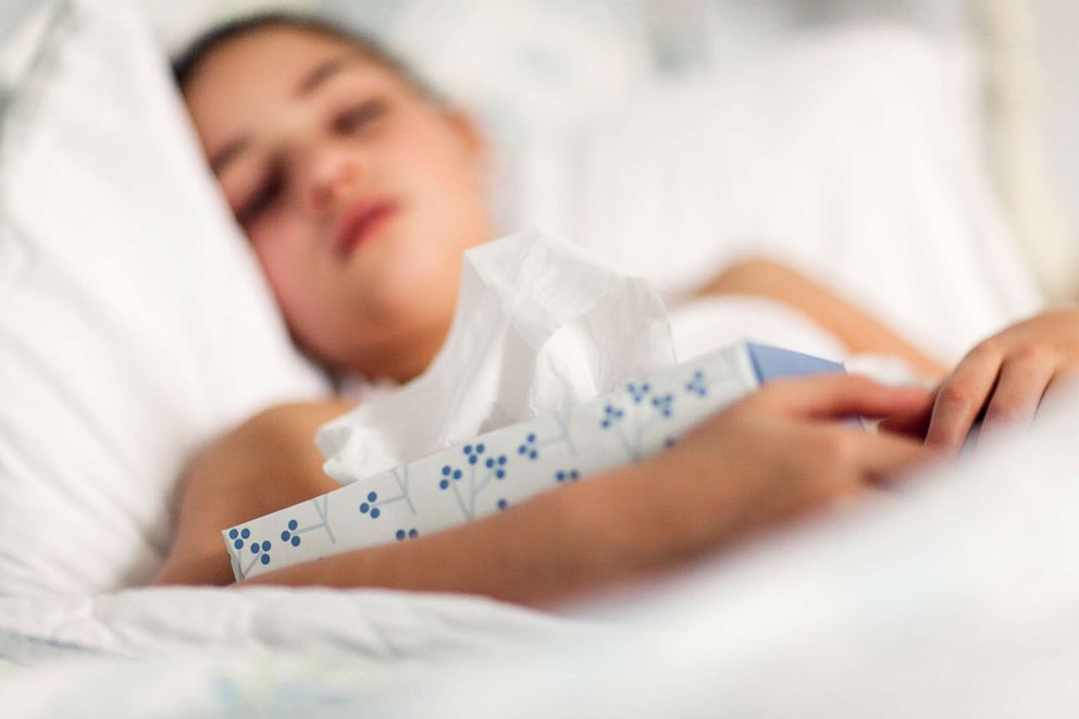 PHOTO: A sick girl is pictured in this undated stock photo.