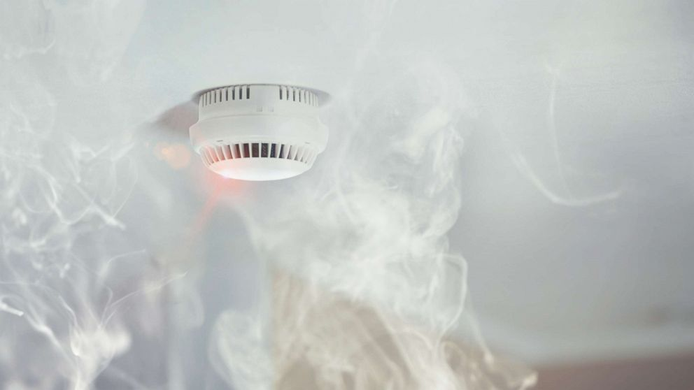 A smoke alarm is pictured in an undated stock photo.