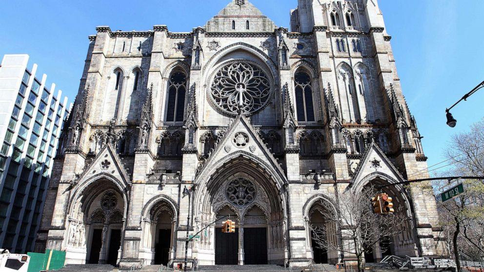 Kathedrale von St. John the Divine, werden temporäre Krankenhaus inmitten coronavirus