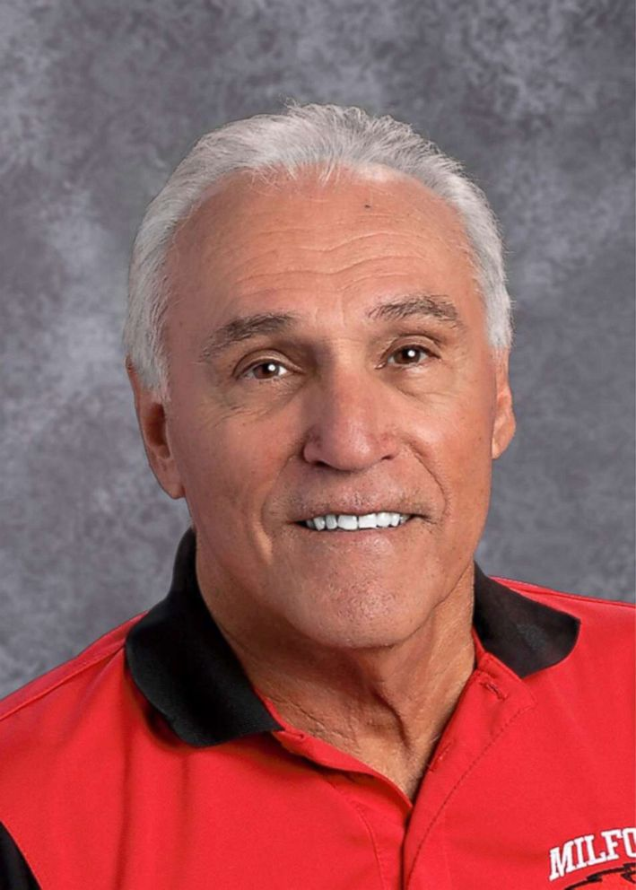 PHOTO: Dennis Jack Candini, 71, taught for 32 years at Milford High School in Milford, Massachusetts, before retiring in 2004 and has been substitute teaching since.