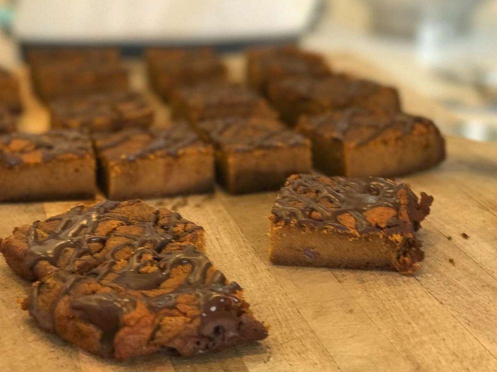 PHOTO: Spicy chocolate pumpkin squares.