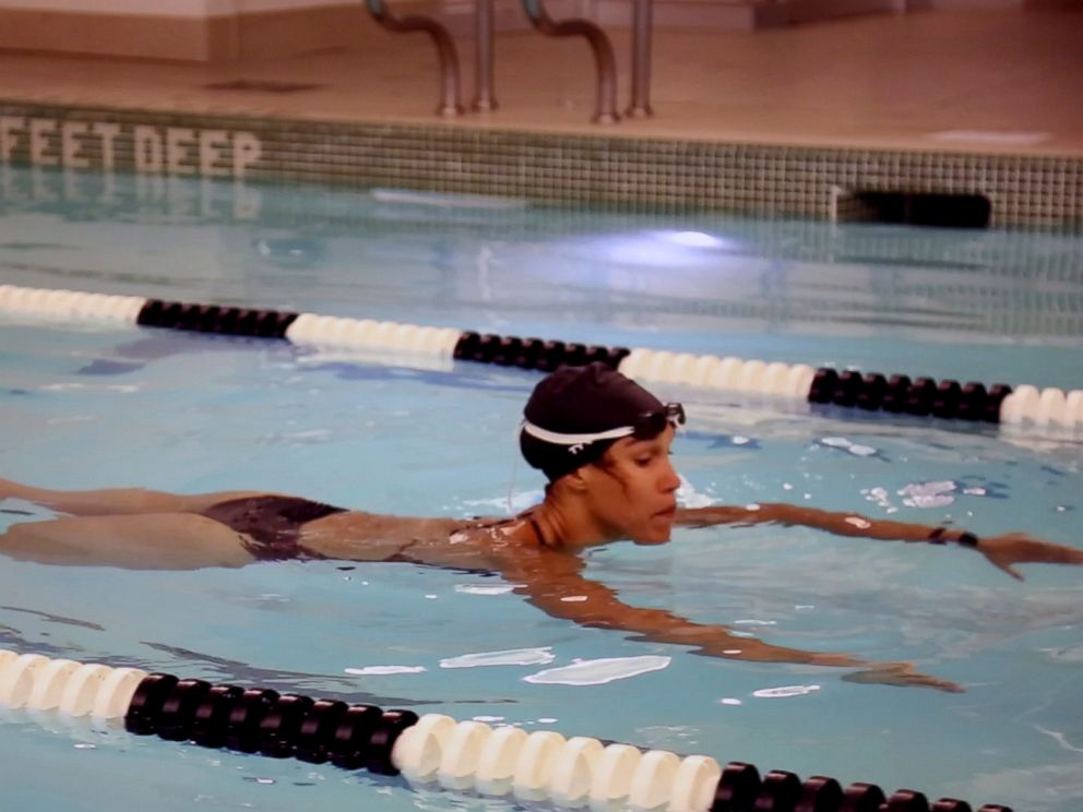 PHOTO: Equinox instructor Cece Marizu demonstrates a pool workout.