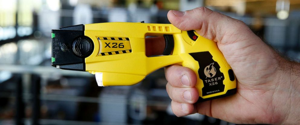 PHOTO: The Taser X26 electronic weapon is displayed at the Taser International Inc. manufacturing facility in Scottsdale, Ariz., April 22, 2015.