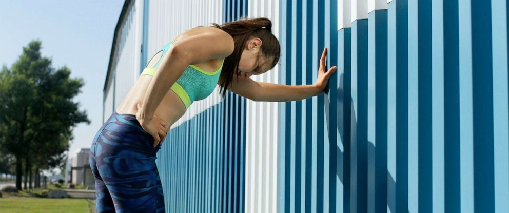 PHOTO: A tired runner rests in this stock photo.