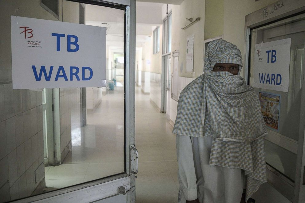 PHOTO: An Indian patient who has been diagnosed with tuberculosis looks out from a TB ward at a government hospital in Jalandhar, March 24, 2018.