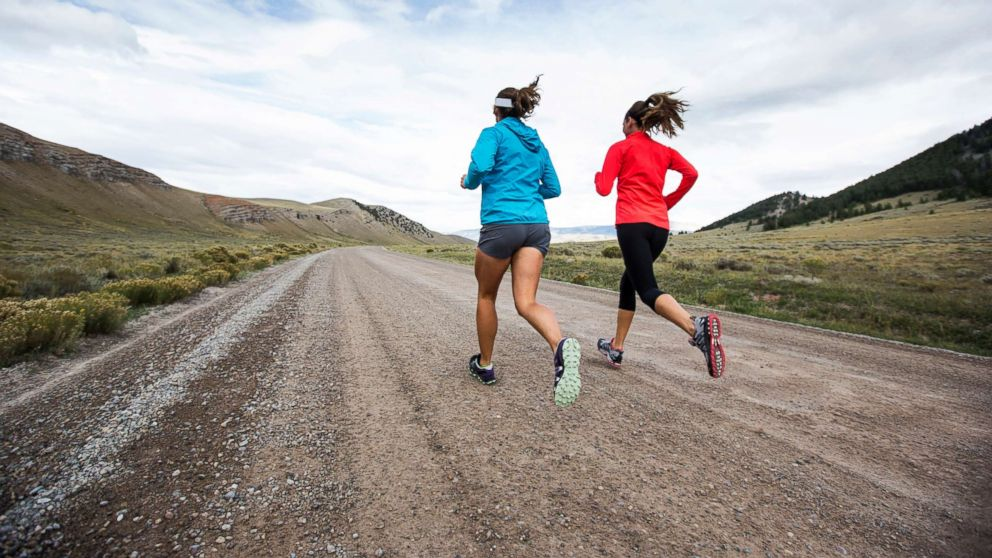 Two women running, in this undated stock photo.
