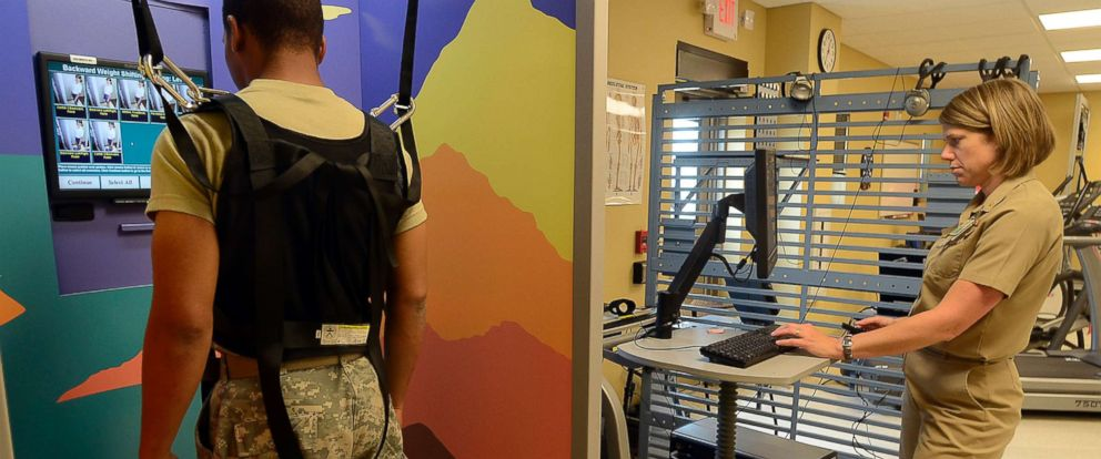 PHOTO: A soldier who suffered a head injury in Afghanistan receives treatment at the Army bases Warrior Recovery Center in Fort Carson, Colo., June 30, 2011.
