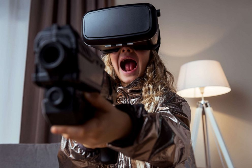 PHOTO: A child plays a video game in this stock photo.
