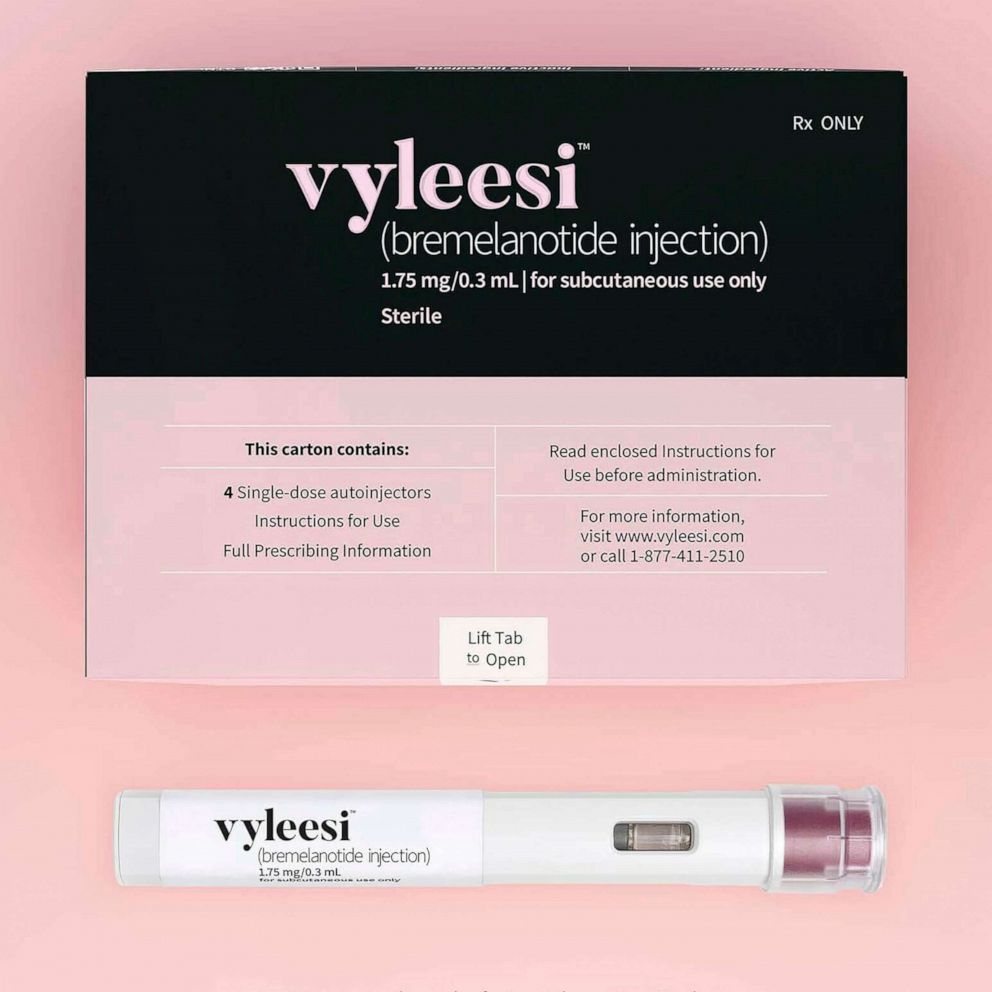 PHOTO: This image provided by Amag Pharmaceuticals in June 2019 shows packaging for their drug Vyleesi.