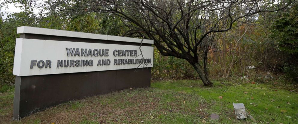 PHOTO: The marquee outside the Wanaque Center for Nursing and Rehabilitation in Haskell, N.J. is pictured Oct. 23, 2018.
