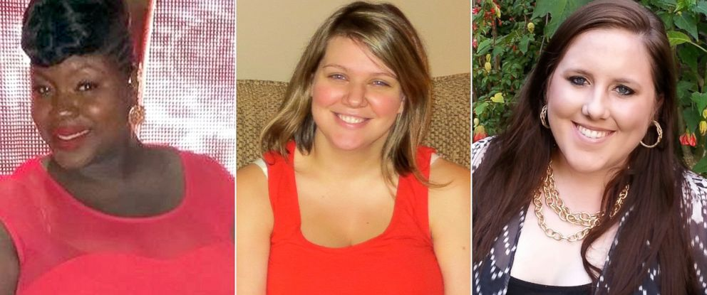 PHOTO: Rachel Saintfort, Brianna Bernard and Lauren Council each lost more than 100 pounds.