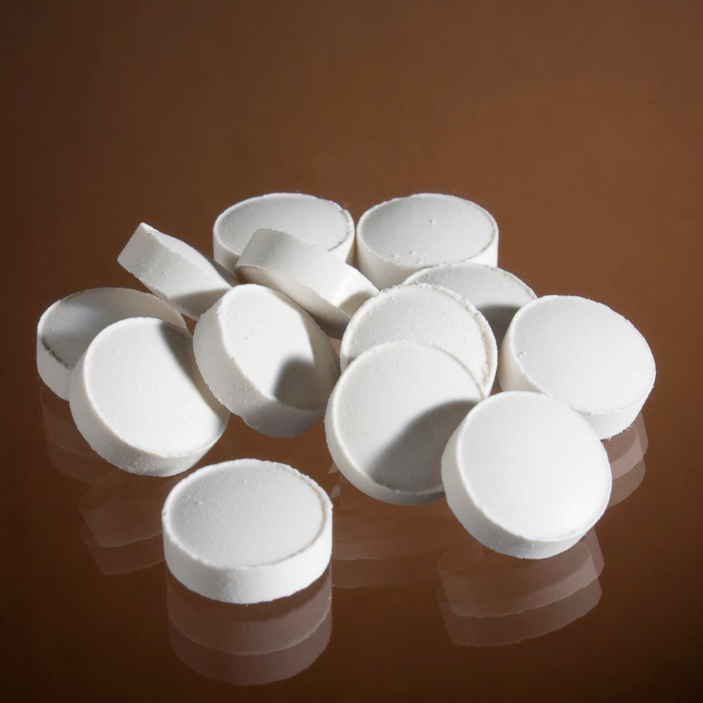 PHOTO: White pills are seen in this stock photo.
