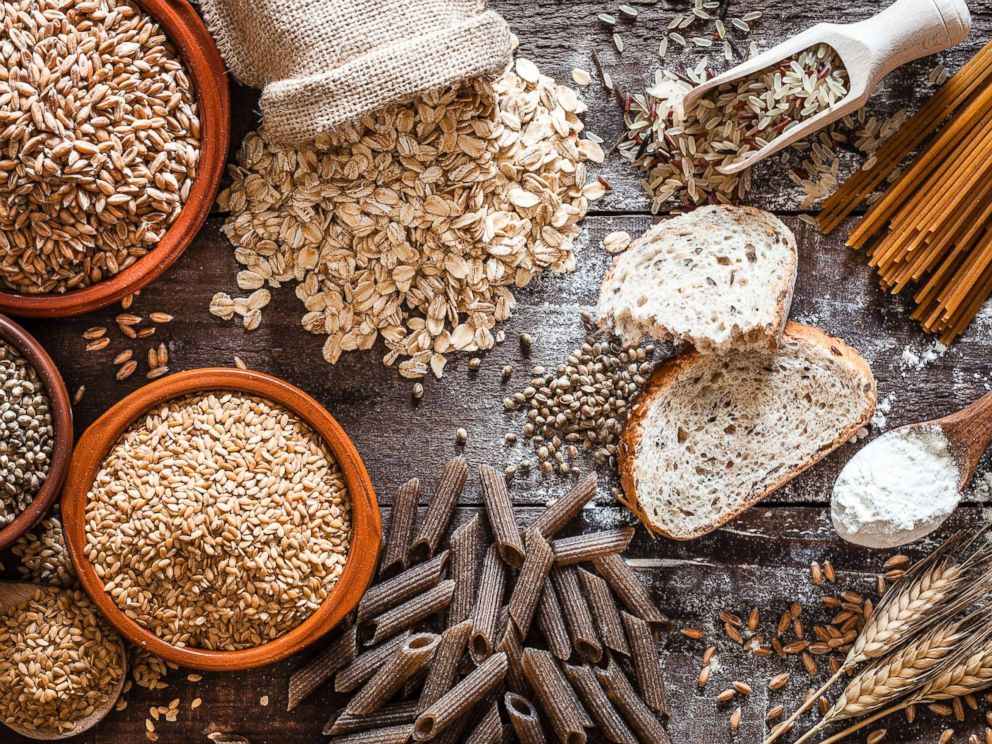 PHOTO: An assortment of whole-grain foods are pictured in this undated stock photo.