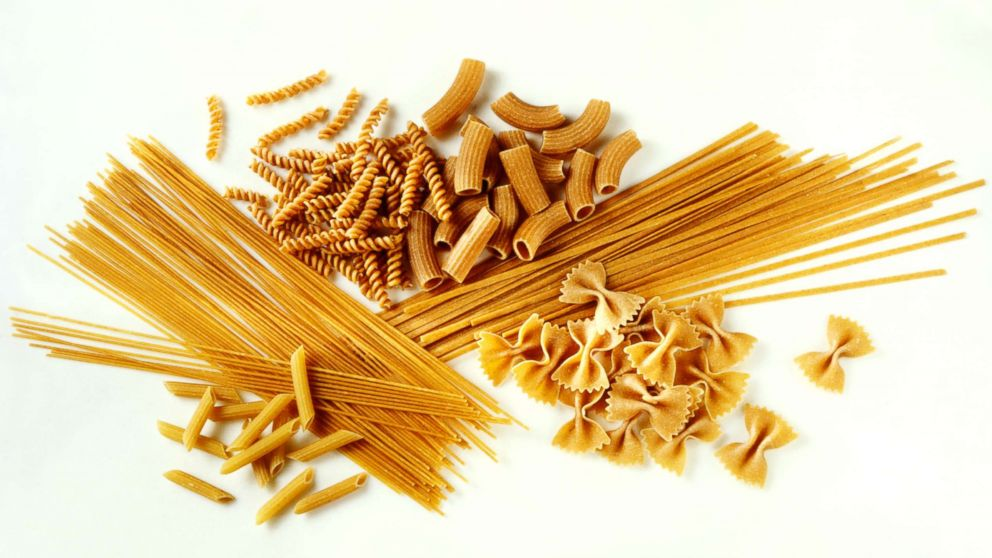 Assorted whole wheat pasta shapes are pictured in this undated stock photo.