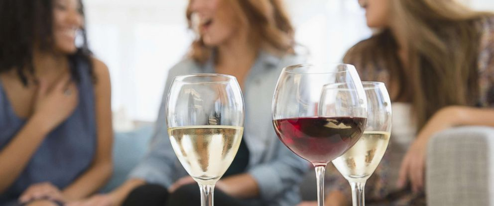 PHOTO: A picture of women drinking wine and talking.