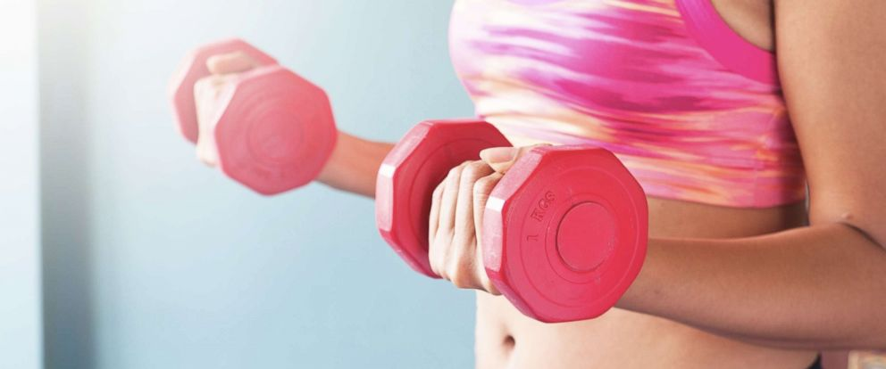 PHOTO: A woman works out in this stock photo.
