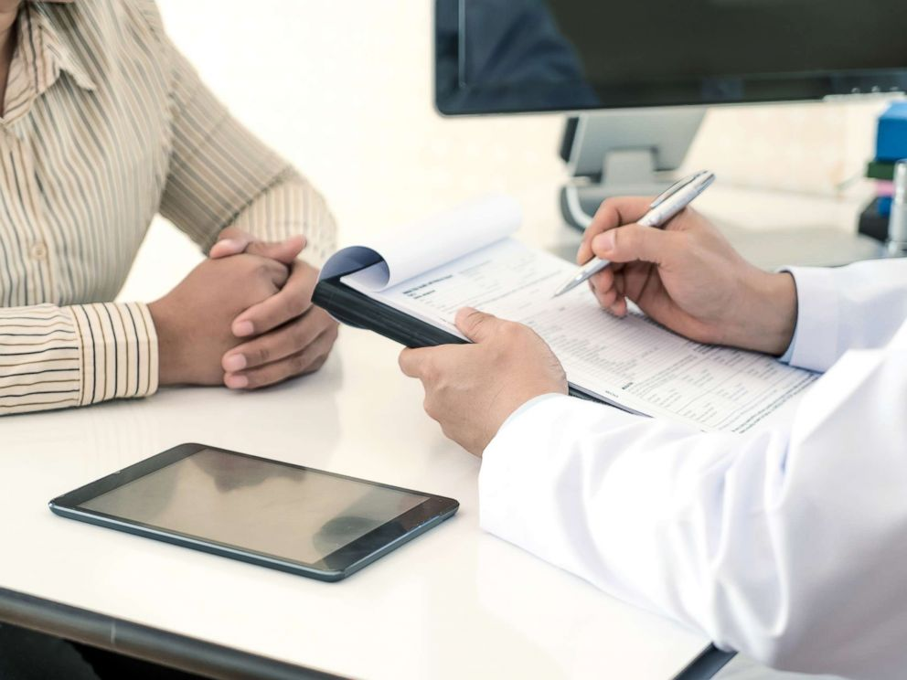 PHOTO: A woman speaks with her doctor in this stock photo.