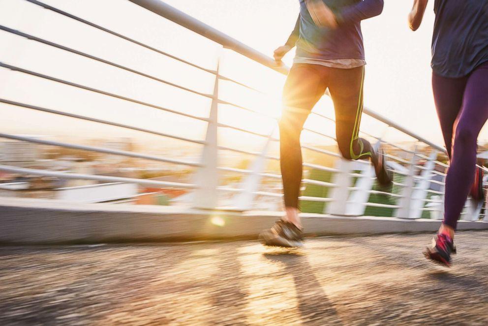 Stock photo of women running.
