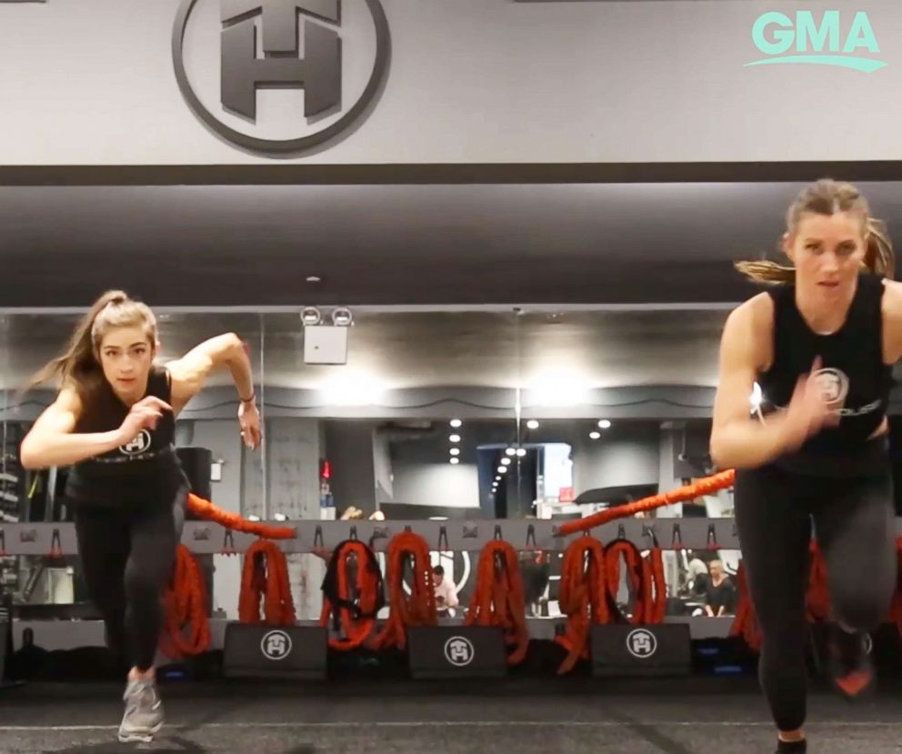 PHOTO: Tone House trainers workout using resistance training.