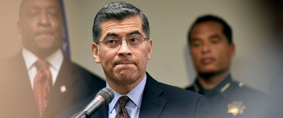 PHOTO: California Attorney General Xavier Becerra speaks to members of the media about the investigation of the shooting death of Stephon Clark in Sacramento, Calif., March 27, 2018.