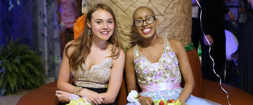 PHOTO: Isabella Moore, 15, and Anika Shah, 16, participate in the Zone Prom on May 3, 2019, at Childrens Healthcare of Atlanta.