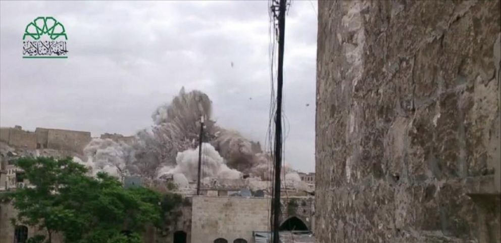 VIDEO: Massive Blast By Syrian Rebels Levels Assad Stronghold in Aleppo