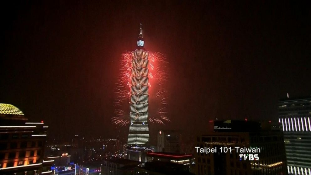 VIDEO: East Asia rings in the New Year with fireworks display.