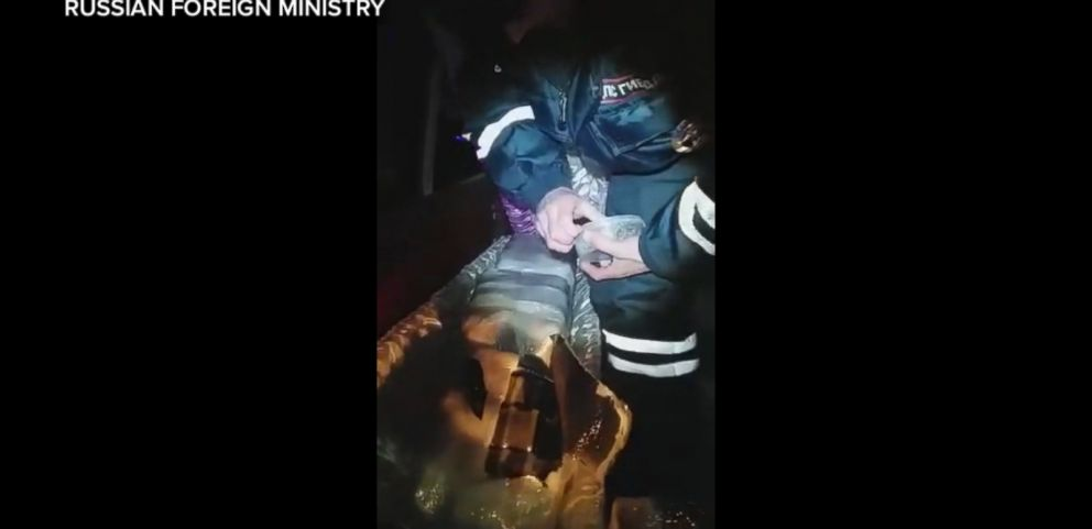 VIDEO: Russian police flagged a speeding hearse and discovered a coffin stuffed full of illegal black caviar.