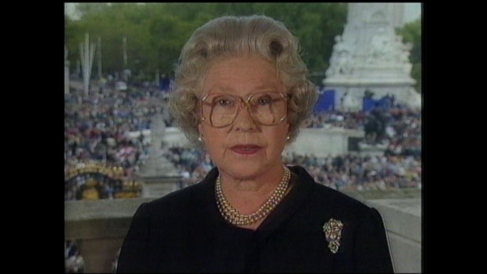 Sept 5 1997 Queen Elizabeth Ii Addresses Princess Diana S Death