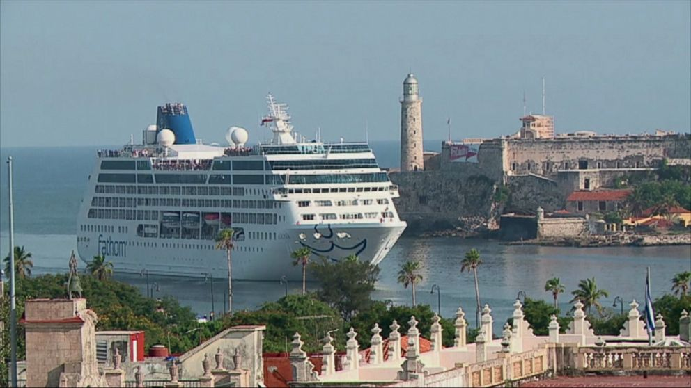 US Cruise Ship Docks In Cuba For St Time In Nearly Years ABC - Cruise ships to cuba