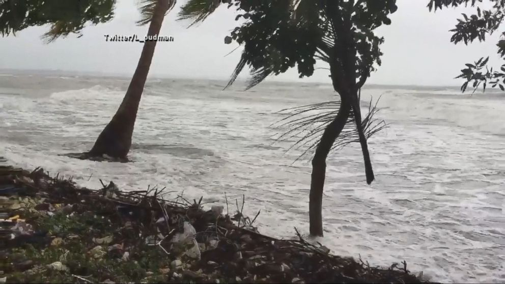 VIDEO: Thousands sought emergency shelter on Tuesday as Hurricane Matthew lashed Haiti with 145-mph winds, a storm surge of up to 10 feet and torrential rain that is forecast to reach up to 40 inches in some spots.
