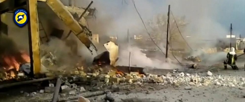 VIDEO: The U.S. military says an air strike Thursday in northwestern Syria targeted a large gathering of al-Qaeda members meeting in a building across the street from a mosque, but deny that a nearby mosque was hit by the airstrike.