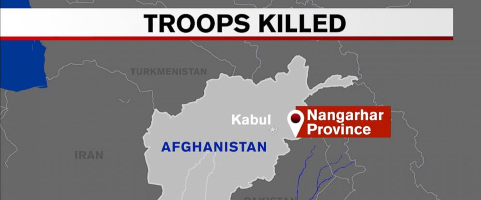 VIDEO: Two U.S. military service members were killed Wednesday night in an anti-ISIS operation in Achin District of Nangarhar province in eastern Afghanistan, according to Pentagon spokesman Capt. Jeff Davis.